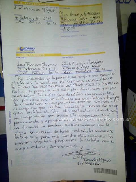 Renunció Facundo Moyano