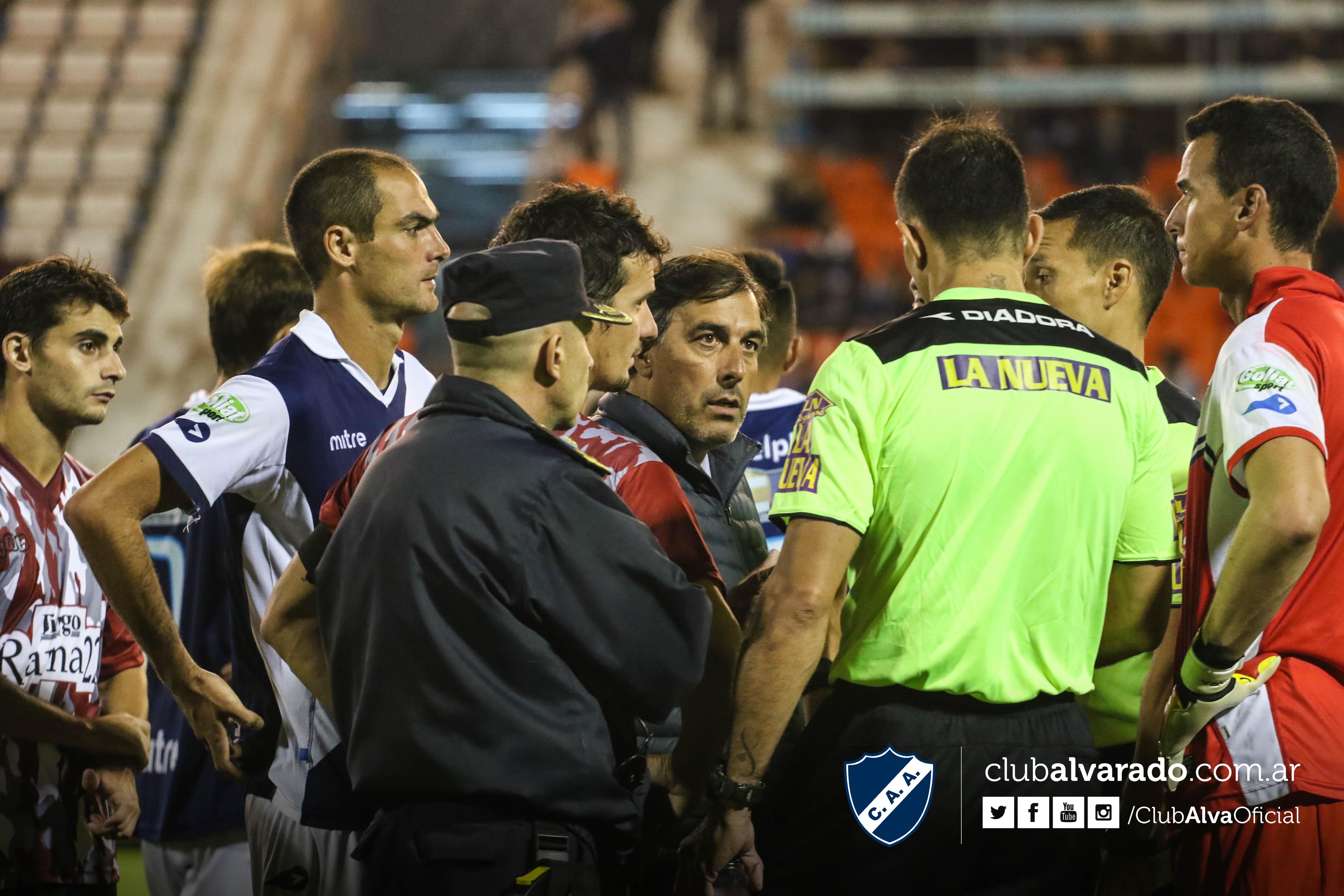 Alvarado quedó eliminado en un partido que no terminó