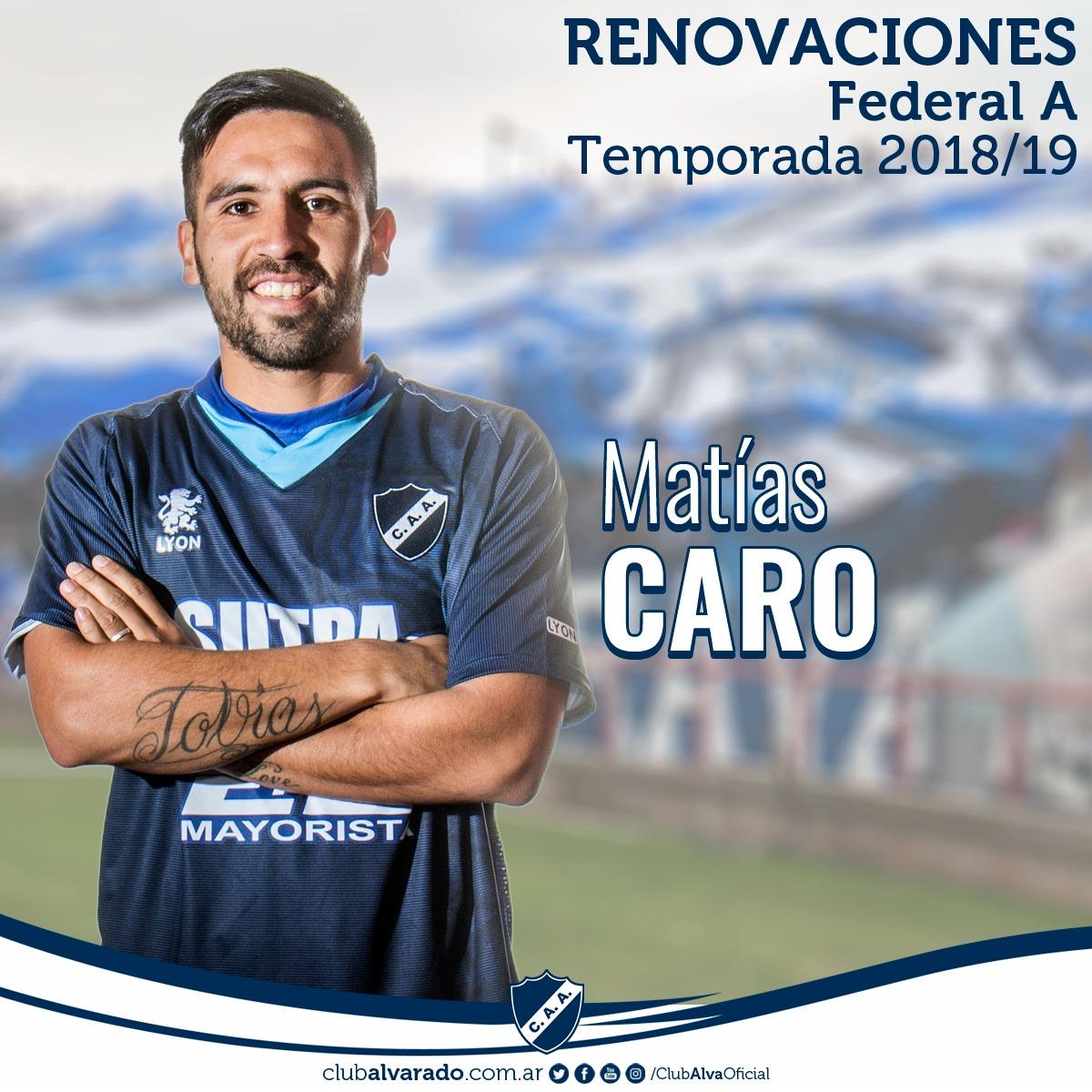 Matías Caro es otro de los jugadores que sigue en Alvarado