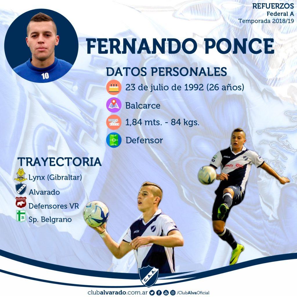La vuelta de uno muy querido: Fernando Ponce regresó a Alvarado