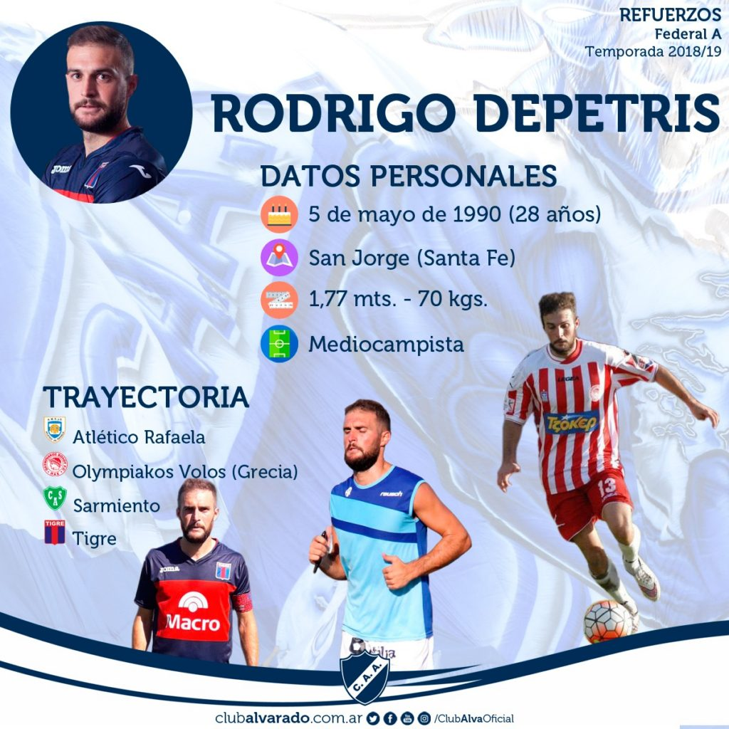 Marca y juego: Alvarado sumó a Roberto Bochi y Rodrigo Depetris