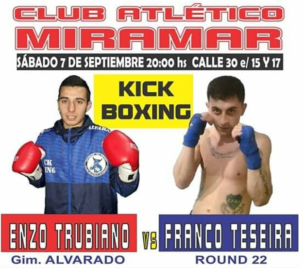 Combates de Boxeo y Kick Boxing con representantes de Alvarado