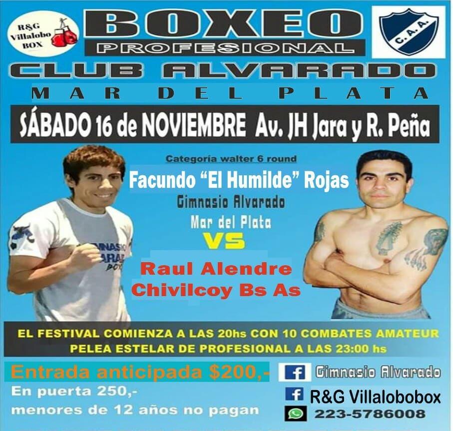 Festival de Boxeo en el Club Atlético Alvarado