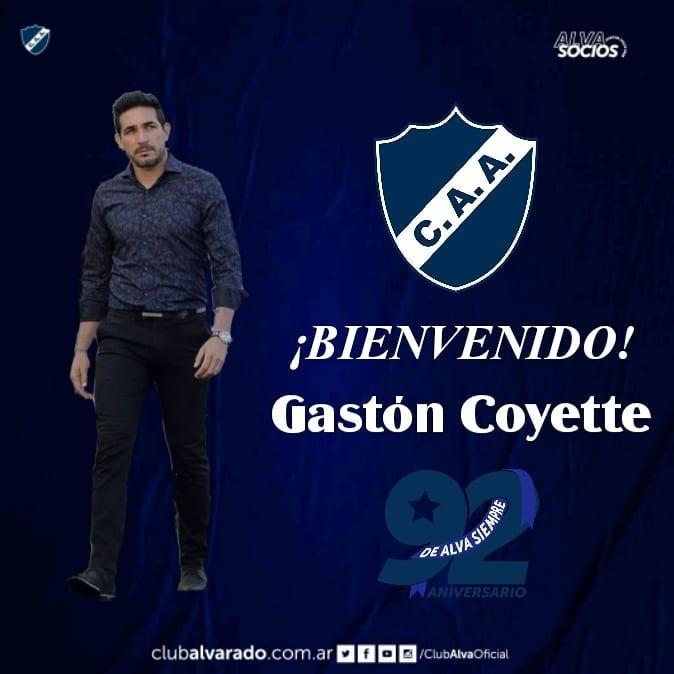 Oficial: Gastón Coyette es el nuevo DT de Alvarado