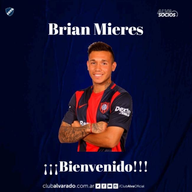 Brian Mieres estampó su firma en Alvarado