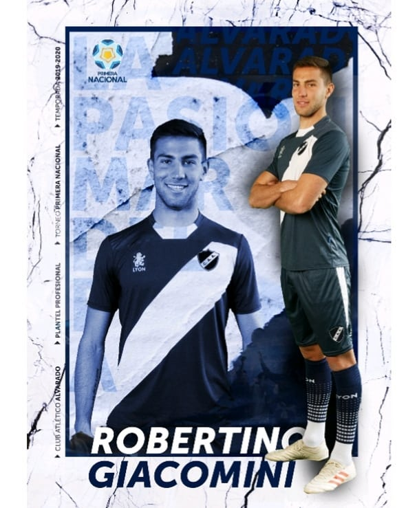 Robertino Giacomini es jugador de Alvarado
