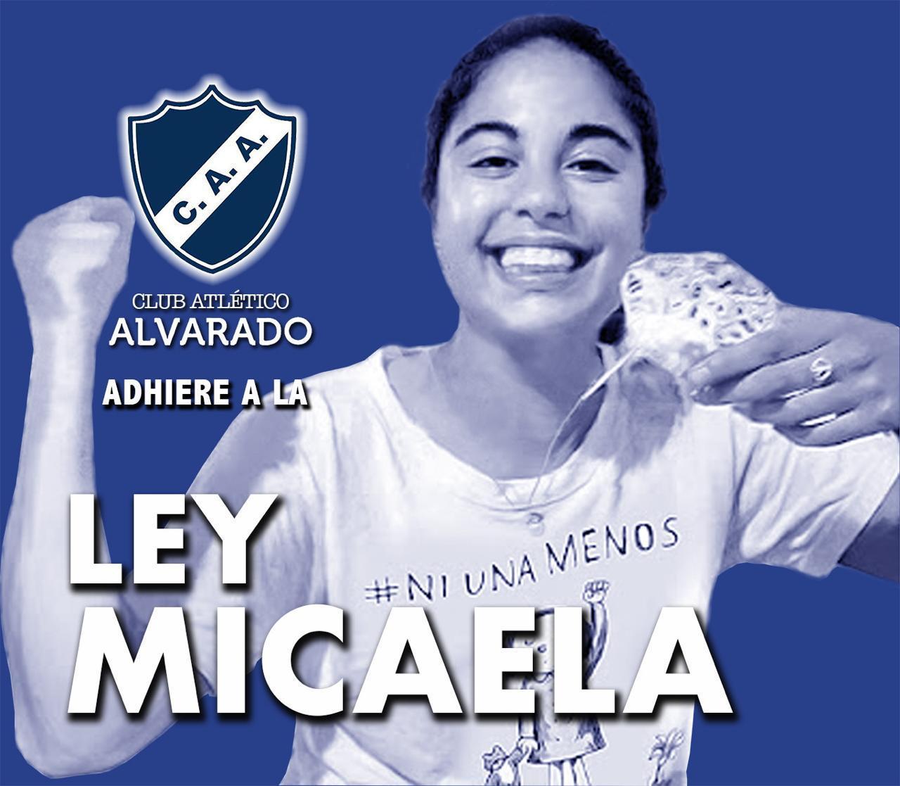 El Club Atlético Alvarado adhiere a la Ley Micaela