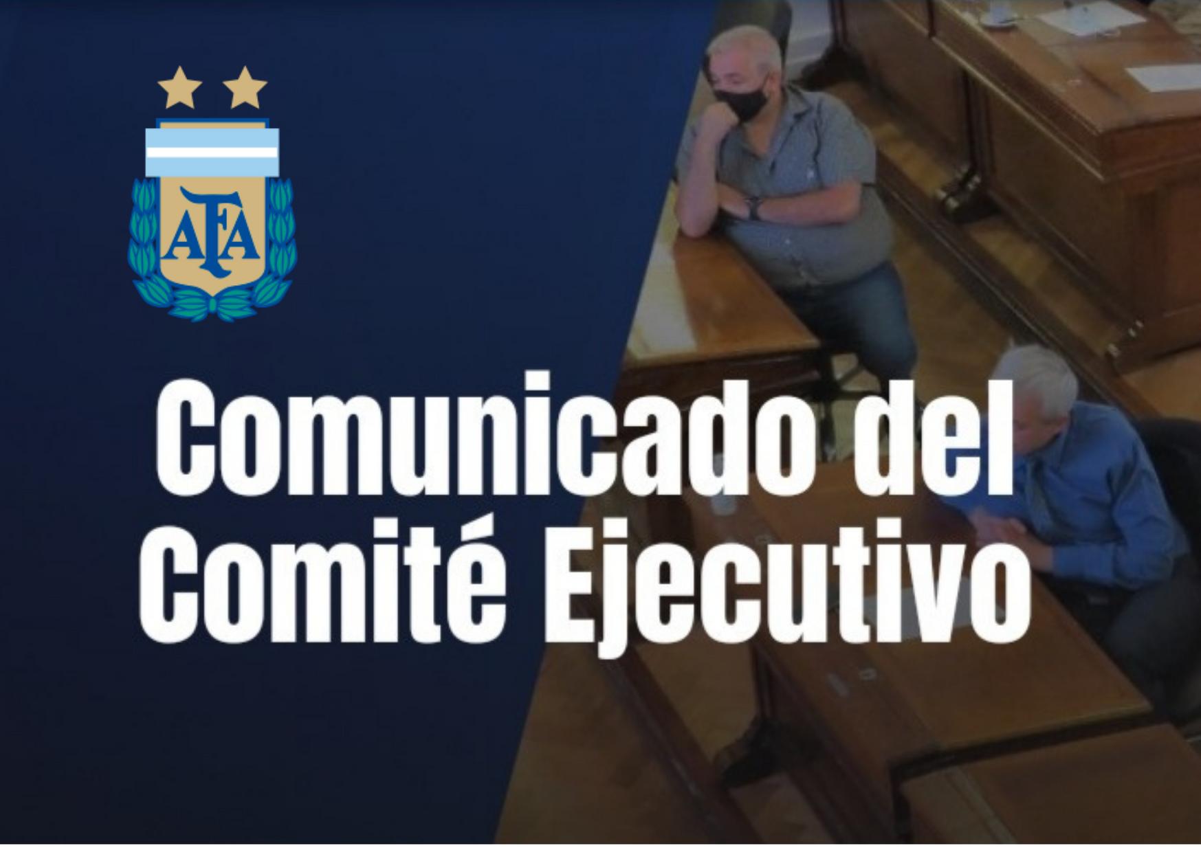 AFA: Comunicado del Comité Ejecutivo
